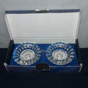 Crystal candleholder set